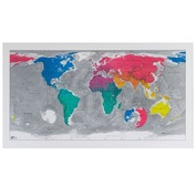 Magnetic Colour Map v.3 World Map (1300 x 720mm)