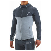 Mens Fit Hooded Top (Grey/Graphite)