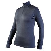Womens Iona 170g Merino Long Sleeve Zip Top (Graphite)