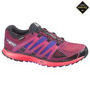 Womens X-Scream Gore-Tex Shoes (Bordeaux/Papaya/Purple)