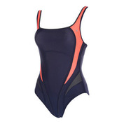 Womens Lima Swimsuit (Navy/Coral)