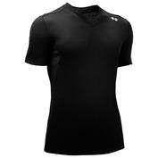 Mens Brave 140g Merino Short Sleeve V-Neck Top (Black)