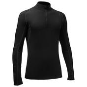 Mens 190g Half Zip Long Sleeve Top (Black)