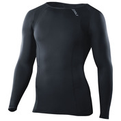 Mens Long Sleeve Compression Top (Black/Black)