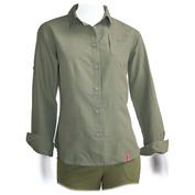 Womens Namibia Lady Long Sleeve Shirt (Khaki)