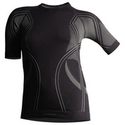 Womens Optiline Short Sleeve Top (Black\/Grey)
