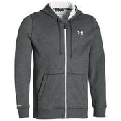 Mens Storm Rival Full Zip Hoodie (Carbon Heather/White/White)