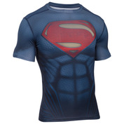 Mens Superman Suit Short Sleeve Top (Midnight Navy/Red)