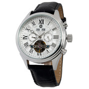Mens Cassel Automatic Watch (Silver Face - Stainless Steel Case)