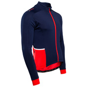 Mens Felcott Thermal Long Sleeve Jersey (Navy/Red)