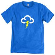 Mens Thunder T-Shirt (Bright Blue)