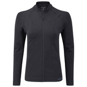 Womens Slipstream Long Sleeve Zip-Up (Black)