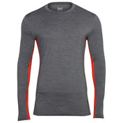Mens Merino 175gr Nergy Long Sleeve Top (Storm/Warm Red)