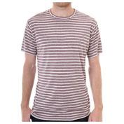 Mens Traveler Stripe T-Shirt (Wine Stripe)