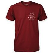 Mens Bare Arrow T-Shirt (Maroon)