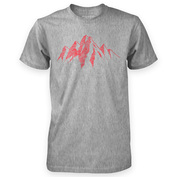 Mens Mountain Scribble T-Shirt (Grey Marl)