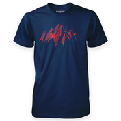 Mens Mountain Scribble T-Shirt (Navy)