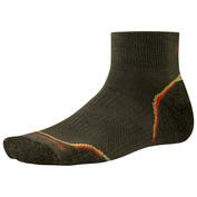 Mens PHD OD Light Mini Socks (2 Pack - Loden/Bright Orange)