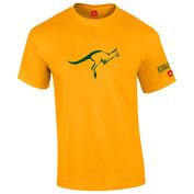 Mens Australia T-Shirt (Gold)