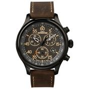 Expedition Field Chrono Watch (Dark Brown Leather)