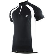 Mens Short Sleeve Cycling Contrast Jersey (Black/Red)