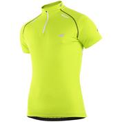 Mens Short Sleeve Cycling Jersey (Neon Yellow Baku)