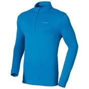 Mens Stretch Fleece Zip Top (Dresden Blue)