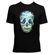 Mens Natures Skull T-Shirt (Black)