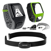 Multi-Sport Watch (with Cadence Sensor, Altimeter, HRM & Extra Bright Green Comfort Strap)