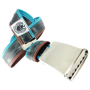 Inner Tube Belt (Turquoise/Dark Brown)