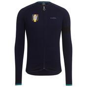 Mens Team Sky Merino Long Sleeve Jersey (Navy)