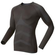 Mens Evolution X-Warm Long Sleeve Top (Black/Fiery Red)