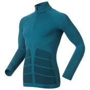 Mens Evolution Warm Long Sleeve Zip Top (Blue Sapphire/Black)