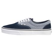 Mens Two Tone Canvas Shoes (Navy/Grey Dots)