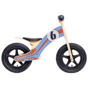 Kids Wooden Balance Bike (Blue\/Orange)
