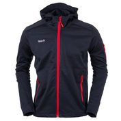 Mens Zura Windproof Jacket (Black\/Red)