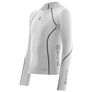 Youth A200 Compression Long Sleeve Top (White)