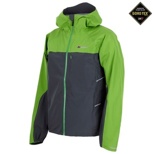 Mens Vapour Storm Shell Jacket (Dark Grey/Green)