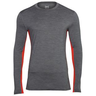 Mens Merino 175gr Nergy Long Sleeve Top (Storm/Warm Red)