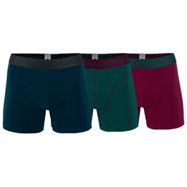 Muchachomalo Mens 3-Pack Solid Boxers (Petrol Deep Green Bordeaux Red) 1a394aeb4a028