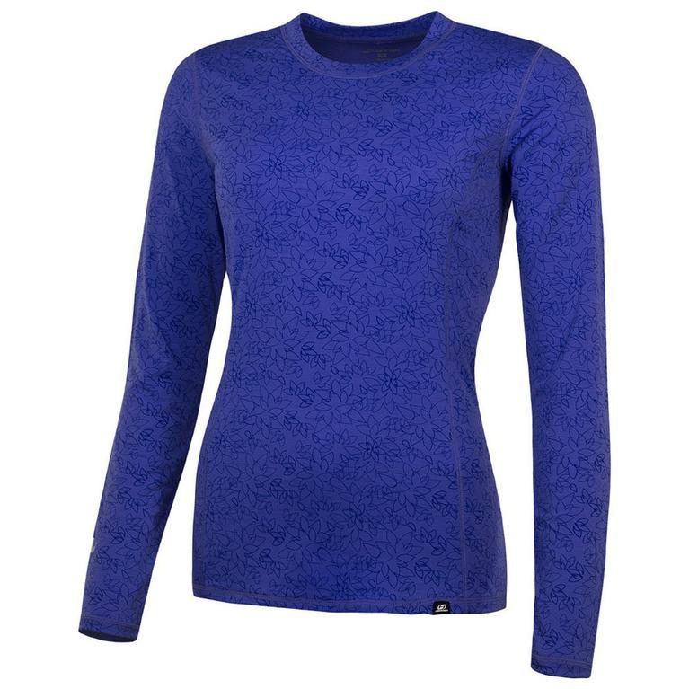 Womens Cottonet 2 Long Sleeve Top (Deep Periwinkle/Blue)