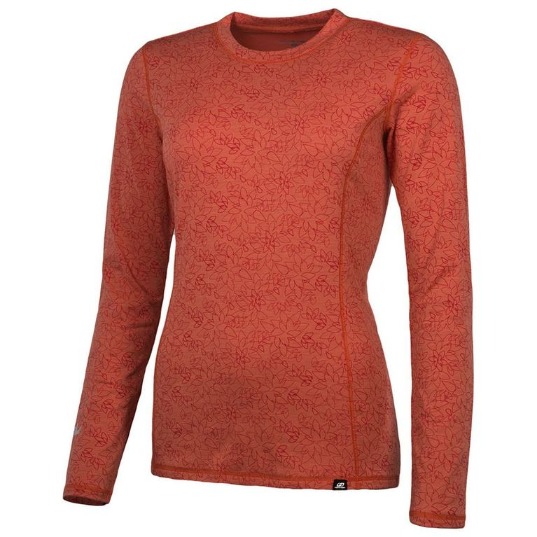 Womens Cottonet 24 Long Sleeve Top (Hot Coral/Red)