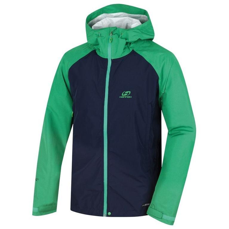 Mens Haken Jacket (Black Iris/Bright Green)