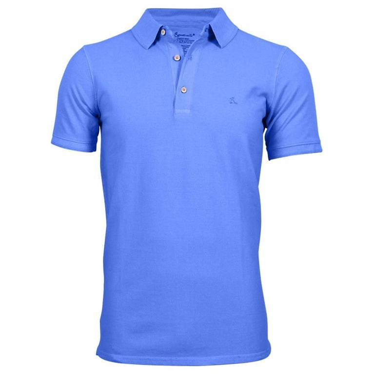 Mens South Beach Fitted Pique Polo Shirt (Cornflower)