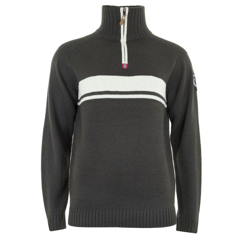 Mens Finse Ltd. Half-Zip Fleece (Charcoal)