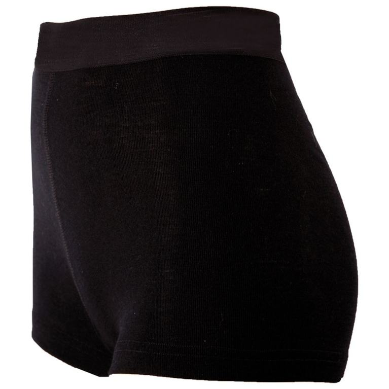 Womens Blackwool Boxer Shorts (Black)