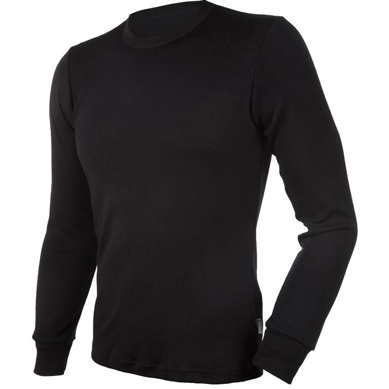 Mens Blackwool Long Sleeve Top (Black)