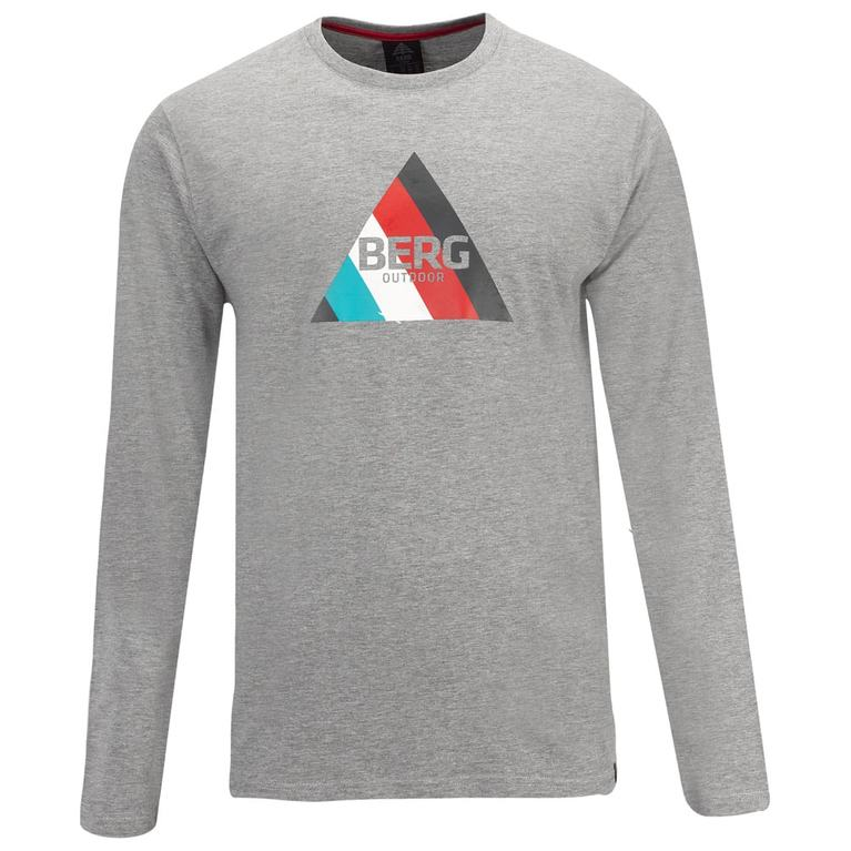 Mens Ambros Long Sleeve T-Shirt (Grey Melange)