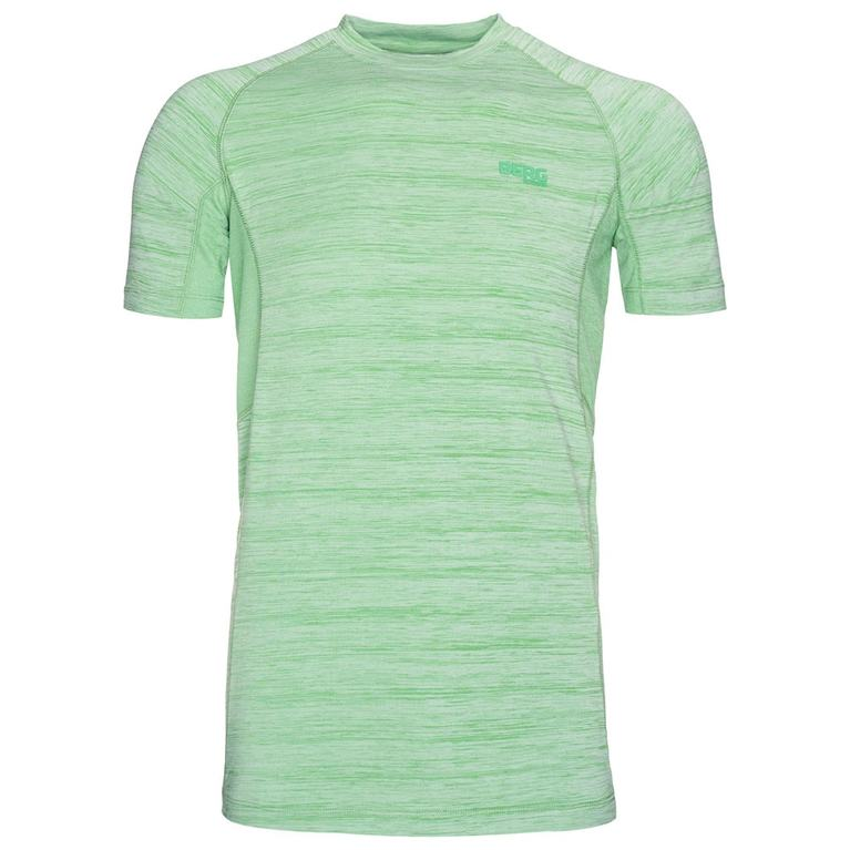 Mens Sangha Short Sleeve Top (Green)