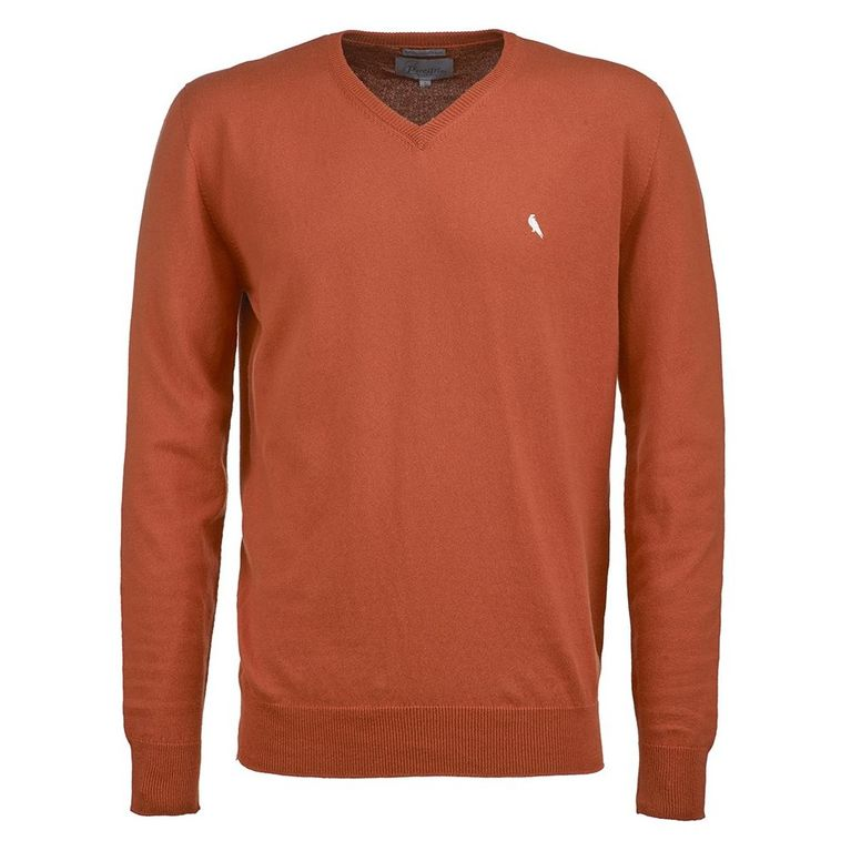 Mens V Neck Pullover (Orange)
